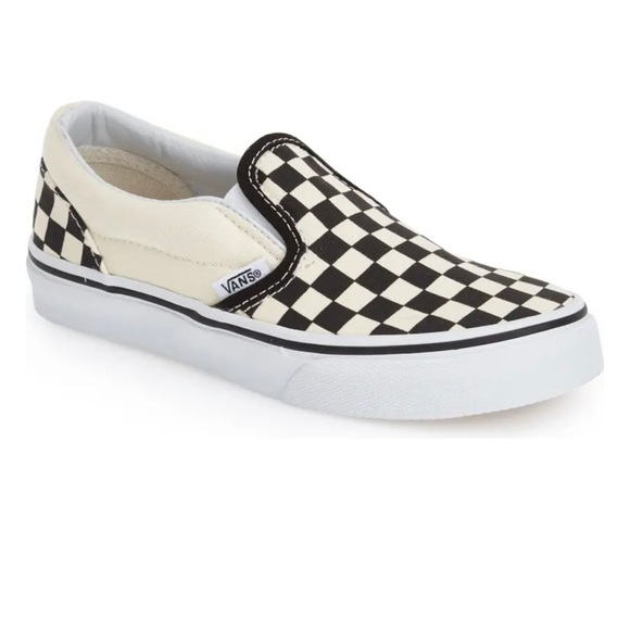Vans Shoes | Asher Checkered Slip Ons